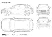 2008 Audi Q5 Typ 8R SUV blueprint