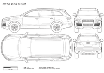 2009 Audi Q7 Typ 4L Facelift SUV blueprint