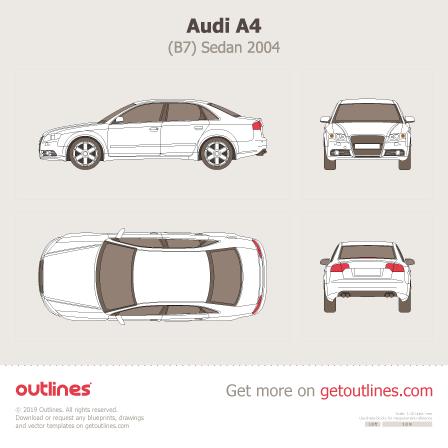 2004 Audi A4 B7 Sedan blueprint
