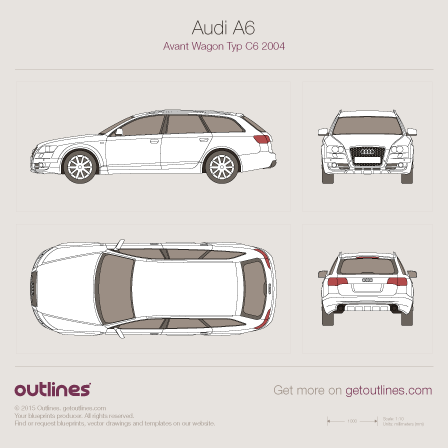 2004 Audi A6 C6 Avant Wagon blueprint