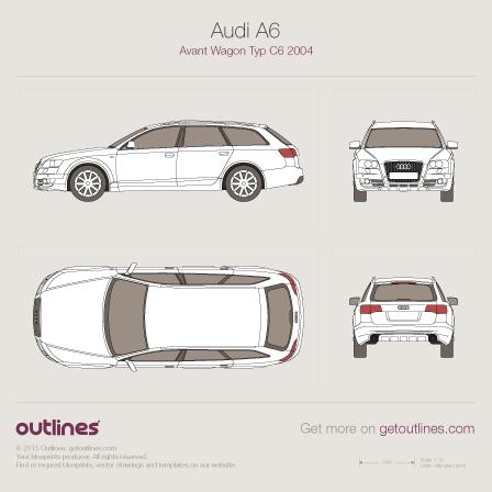 2004 Audi A6 C6 Avant Wagon blueprints and drawings