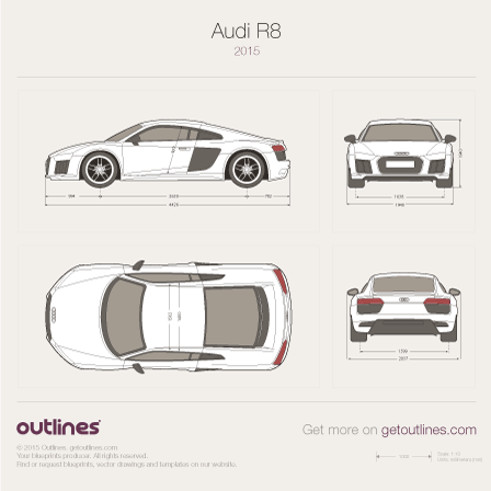 2015 Audi R8 Coupe blueprint