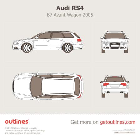 2005 Audi RS4 B7 Avant Wagon blueprints and drawings