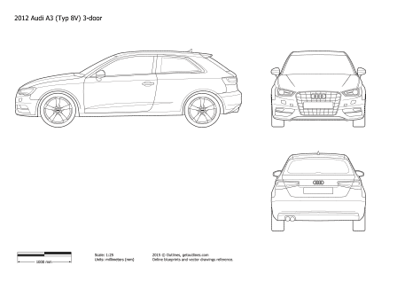2012 audi a3 drawings outlines audi a3 drawings malvernweather Image collections