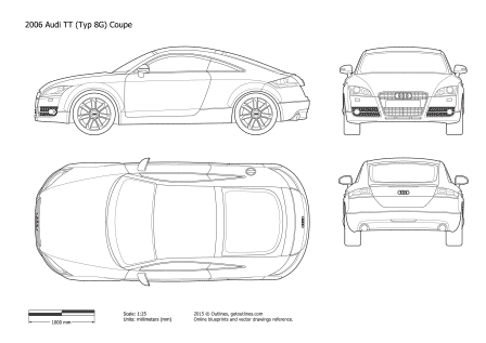 2006 Audi Tt Drawings on audi paint