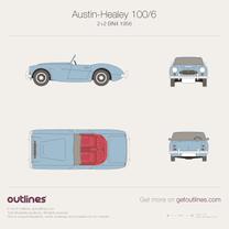 1956 Austin-Healey 100/6 BN4 (2+2) + interior Roadster blueprint