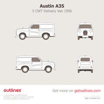 1956 Austin A35 5 CWT Delivery Van Minivan blueprint