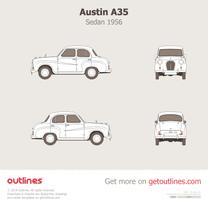 1956 Austin A35 Sedan blueprint