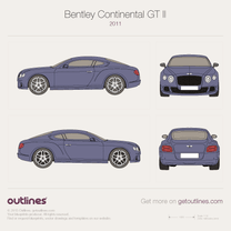 2010 Bentley Continental GT II Coupe blueprint