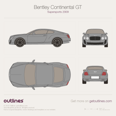 2003 - 2010 Bentley Continental GT Supersports Coupe drawings