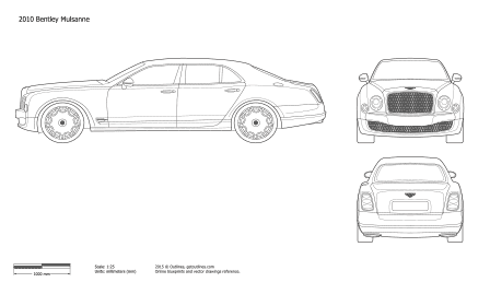 Bentley Mulsanne blueprint