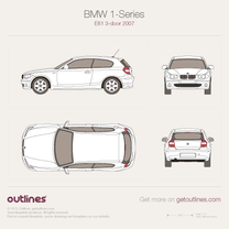 2007 BMW 1-Series E81 3-door Hatchback blueprint