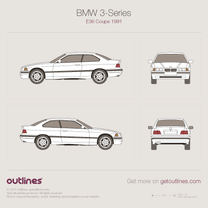 1991 BMW 3-Series E36 Coupe blueprint