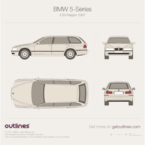 1996 BMW 5-Series E39 Wagon blueprint