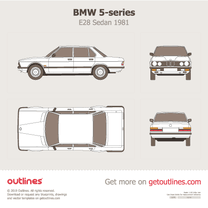 1981 BMW 5-series E28 Sedan blueprint