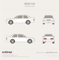 BMW M3 blueprint
