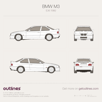 1992 BMW M3 E36 Coupe blueprint