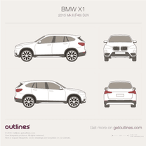2015 BMW X1 F48 SUV blueprint