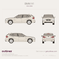 2009 BMW X1 E84 SUV blueprint