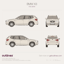 2010 BMW X3 F25 SUV blueprint
