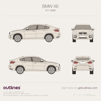 2008 BMW X6 E71 SUV blueprint