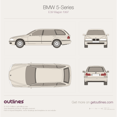 BMW 5-series blueprint