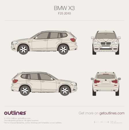 BMW X3 blueprint