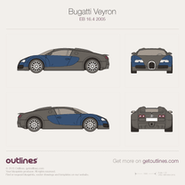 2005 Bugatti Veyron EB 16.4 Coupe blueprint