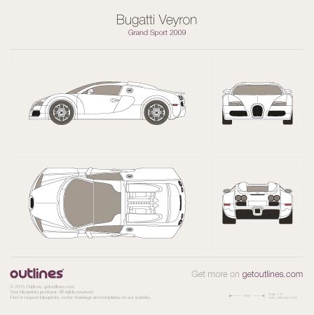 2005 Bugatti Veyron Grand Sport Roadster blueprint