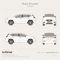2016 Buick Envision SUV blueprint