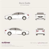 2015 Buick Excelle Mk III Sedan blueprint