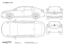 2010 Buick LaCrosse Mk II Sedan blueprint