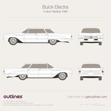 1959 Buick Electra Mk I 4-door Hardtop Sedan blueprint