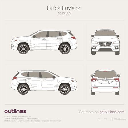 2016 Buick Envision SUV blueprints and drawings