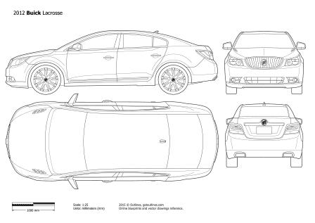 2010 Buick LaCrosse Mk II Sedan blueprints and drawings