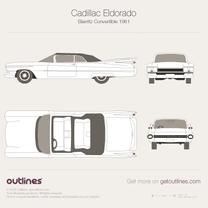 1961 Cadillac Eldorado Mk IV + Interior Cabriolet blueprint