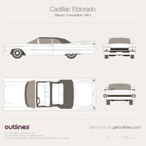 Cadillac Eldorado blueprint