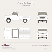 1955 Chevrolet Apache Step Side Pickup Truck blueprint