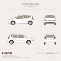 2003 Chevrolet Aveo T200 5-door Hatchback blueprint