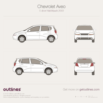 2003 Chevrolet Kalos 5-door Facelift Hatchback blueprint