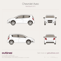 2012 Chevrolet Sonic 5-door Hatchback blueprint