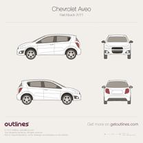 2006 Chevrolet Aveo T250 5-door facelift Hatchback blueprint