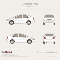 2003 Chevrolet Aveo T200 Sedan blueprint