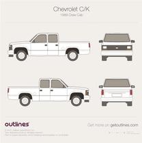 1987 Chevrolet C/K Mk IV Crew Cab Pickup Truck blueprint