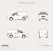 2014 Chevrolet City Express Cargo Van blueprint
