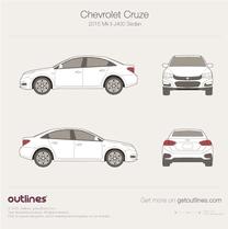 2015 Chevrolet Cruze Mk II J400 Sedan blueprint