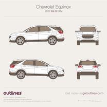 2017 Chevrolet Equinox III SUV blueprint