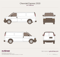 2017 Chevrolet Express Cargo 2500 EWB Van blueprint