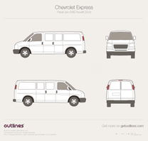 2003 Chevrolet Express Cargo SWB Facelift Van blueprint