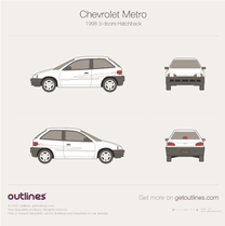 1998 Chevrolet Metro 3-doors Hatchback blueprint